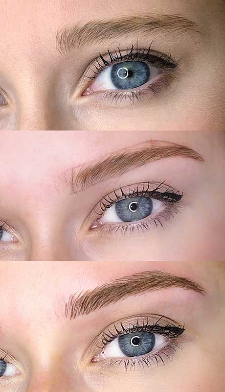 fluffy brows before and after