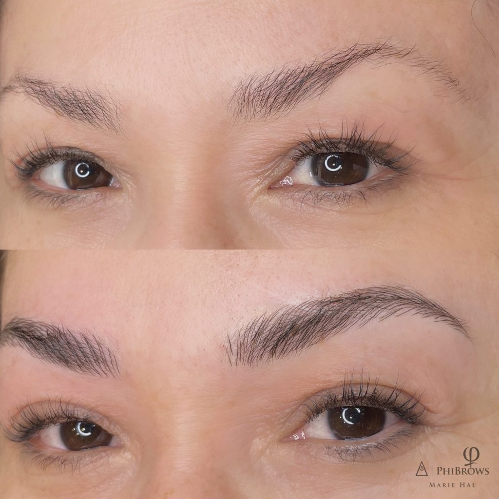 Beautyboss microblading before and after 2
